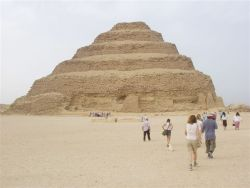 The Step Pyramid of Saqqara. The first Pyramid to be build near the old capital of Memphis.