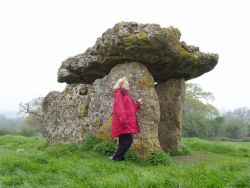 Beryl at St. Lythan's as the stones scream at the sky.